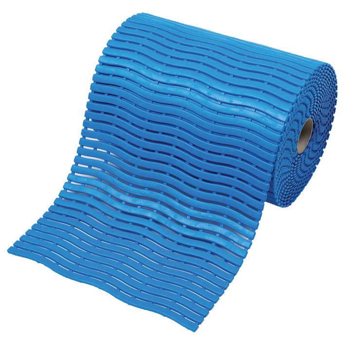 Modrá bazénová metrážová rohož Soft-Step - délka 1 cm, šířka 60 cm a výška 0,9 cm