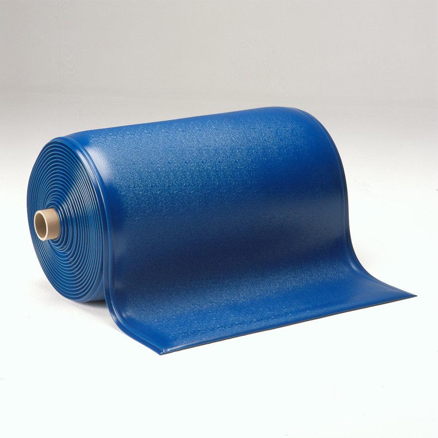 Modrá gumová průmyslová protiúnavová rohož - délka 18,3 m, šířka 90 cm a výška 1,25 cm