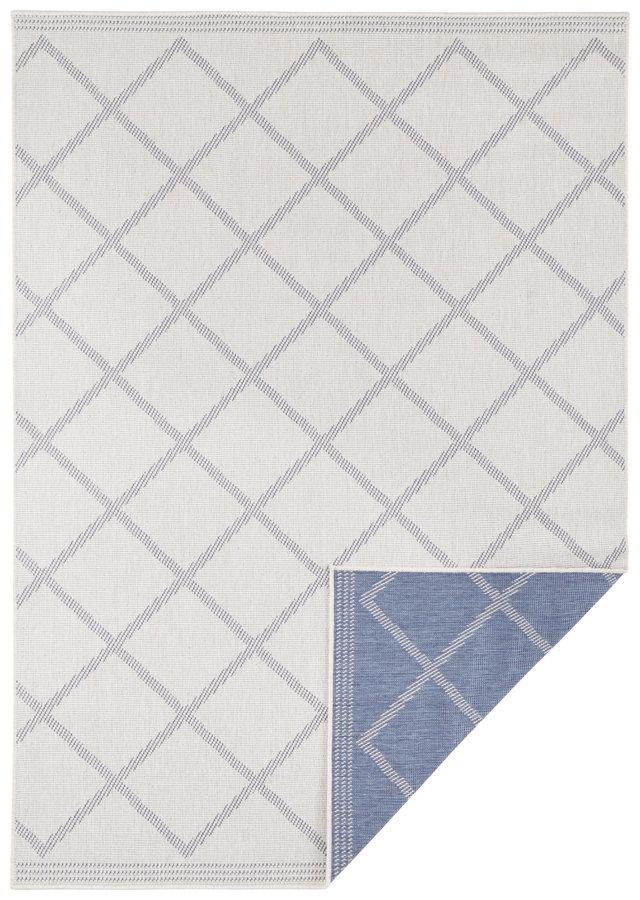Modrý oboustranný moderní koberec Twin-Supreme