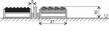 Textilní gumová hliníková kartáčová vnitřní vstupní rohož FLOMA Alu Low Extra - délka 100 cm, šířka 100 cm a výška 1 cm