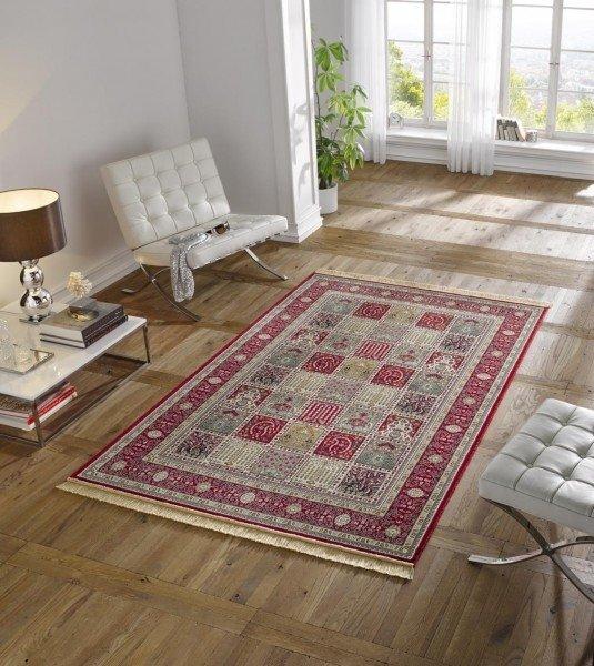 Červený kusový orientální koberec Majestic