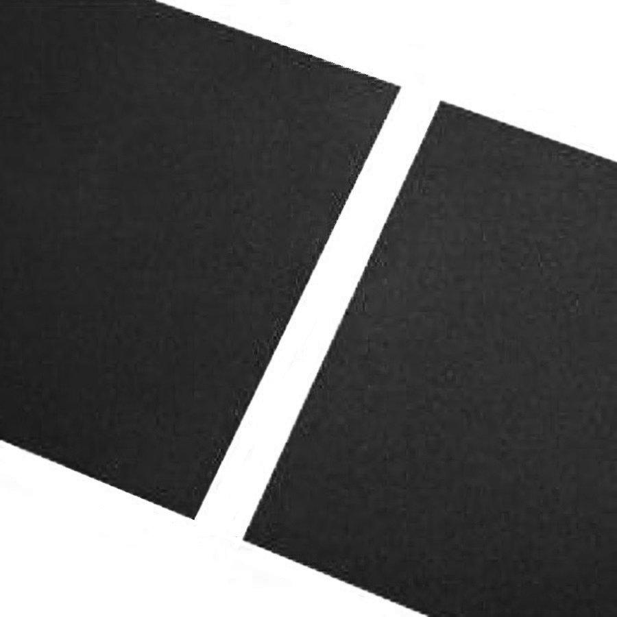 Černá gumová hladká dlaždice FLOMA - délka 100 cm, šířka 100 cm a výška 1,5 cm