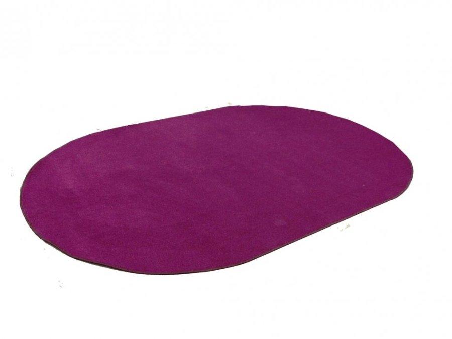 Fialový kusový kulatý koberec Eton - průměr 57 cm