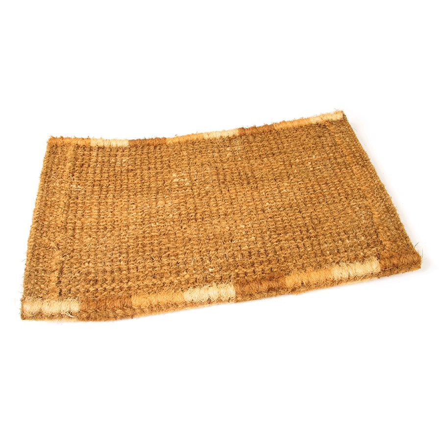Kokosová venkovní čistící vstupní rohož FLOMA Squares - délka 45 cm, šířka 75 cm a výška 4,7 cm
