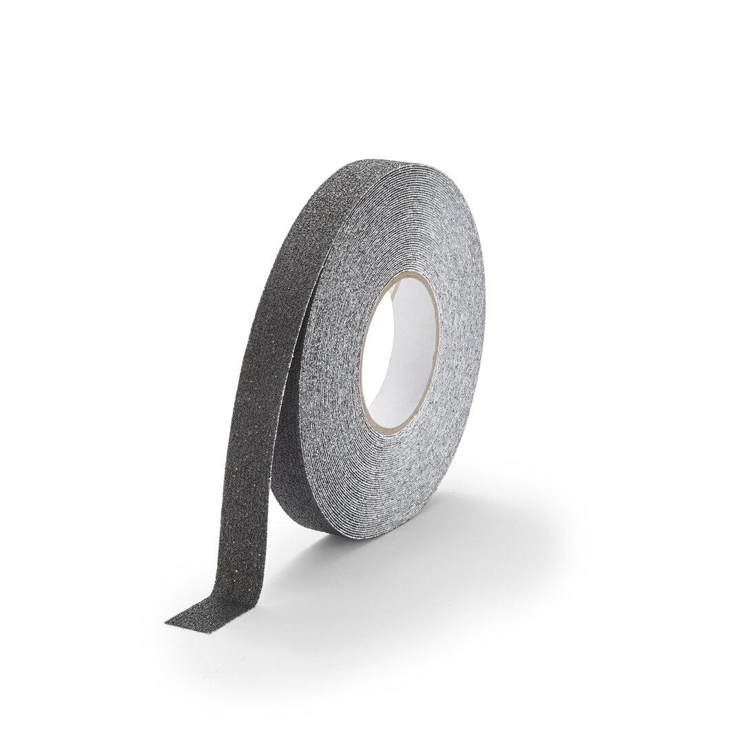 Černá korundová protiskluzová podlahová páska FLOMA Marine - délka 18,3 m, šířka 2,5 cm a tloušťka 0,99 mm