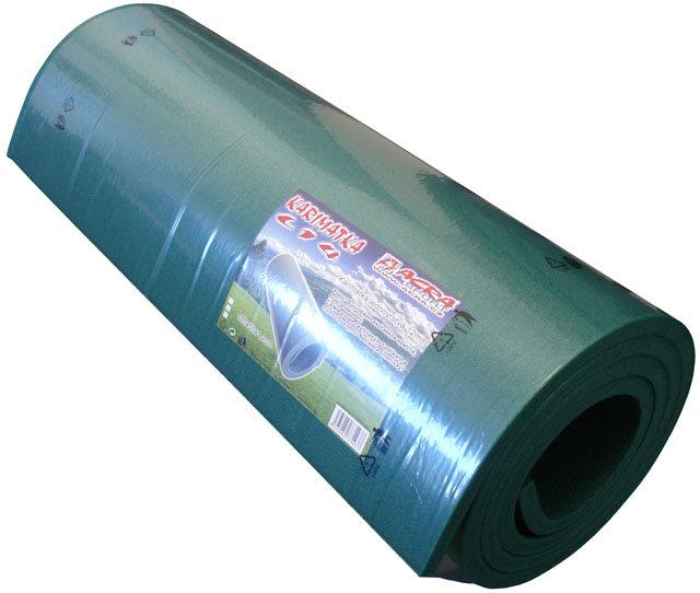 Modrá pěnová jednovrstvá karimatka - délka 180 cm, šířka 50 cm a výška 1,2 cm