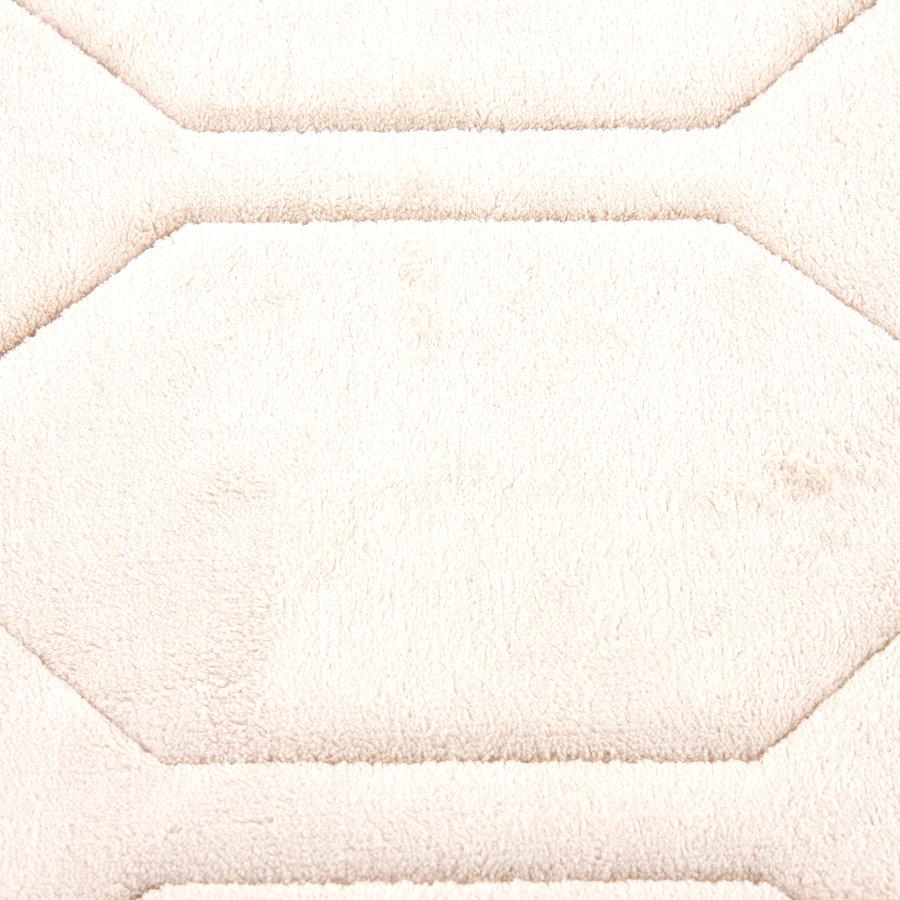 Béžová pěnová koupelnová předložka - délka 87 cm a šířka 52 cm