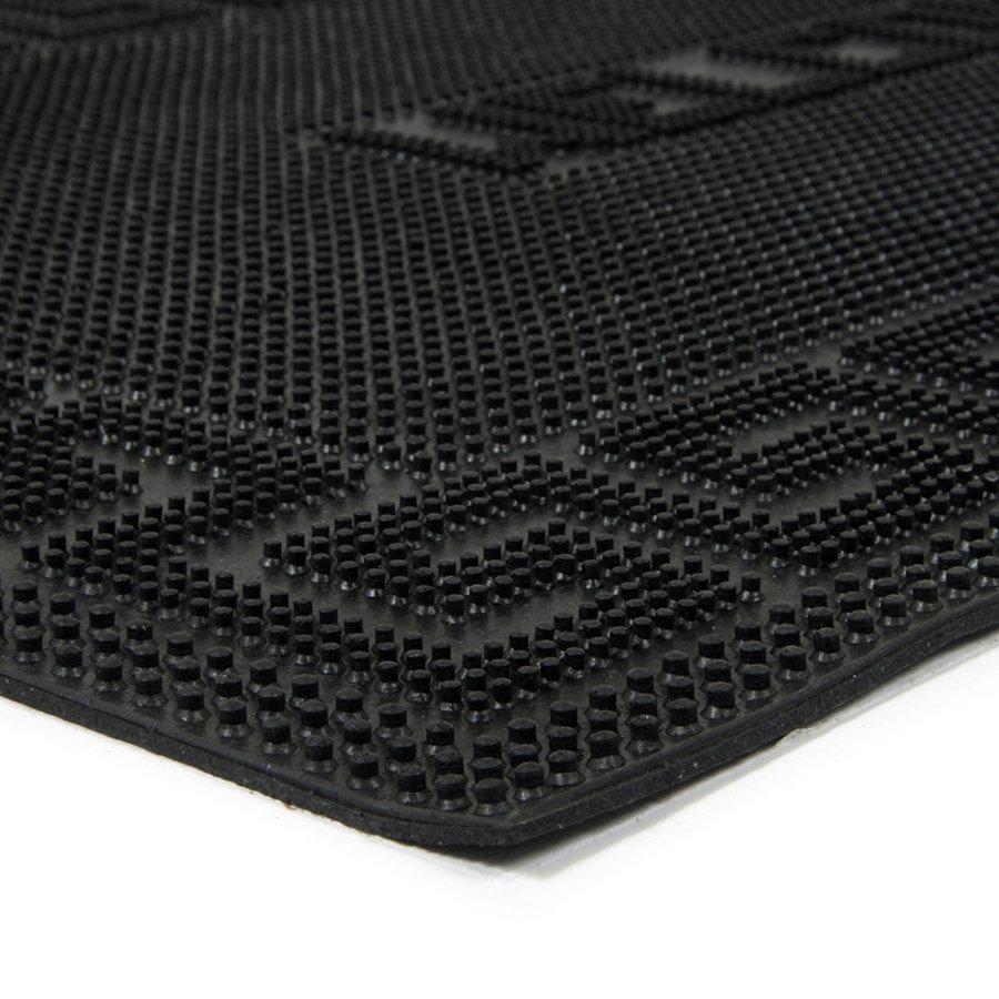 Gumová čistící venkovní vstupní rohož Welcome - Deco, FLOMA - délka 45 cm, šířka 75 cm a výška 0,6 cm