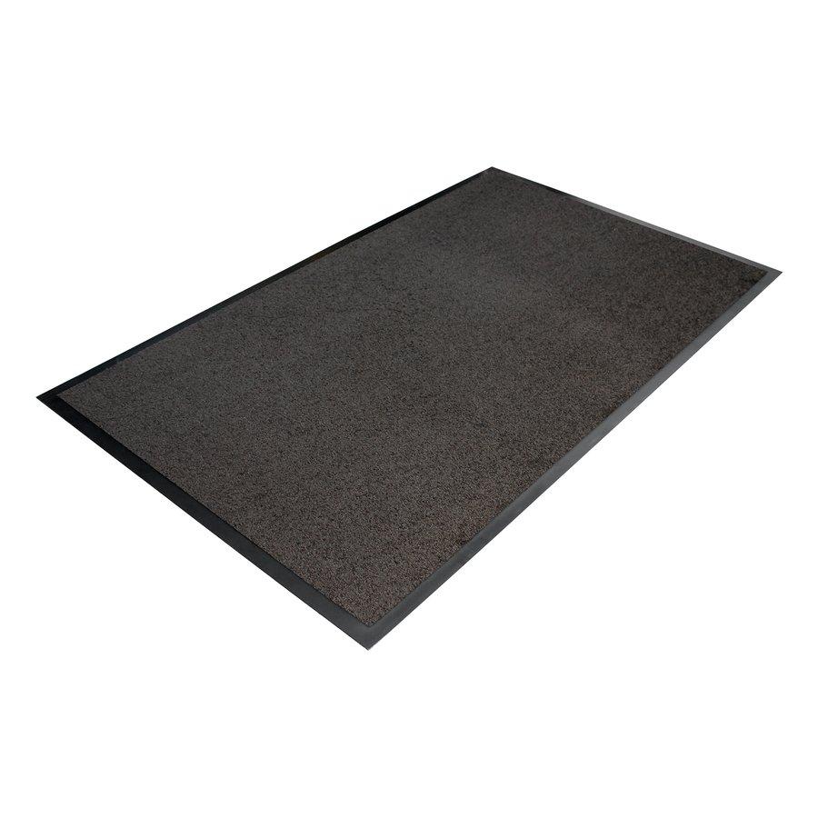 Šedá textilní vstupní vnitřní čistící rohož 01 - délka 60 cm, šířka 90 cm a výška 0,7 cm