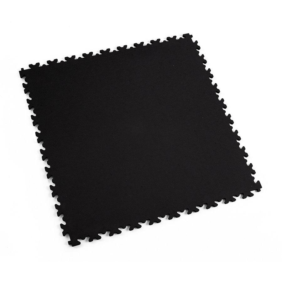 Černá vinylová plastová zátěžová dlaždice Fortelock Eco 2020 (kůže) - délka 51 cm, šířka 51 cm a výška 0,7 cm