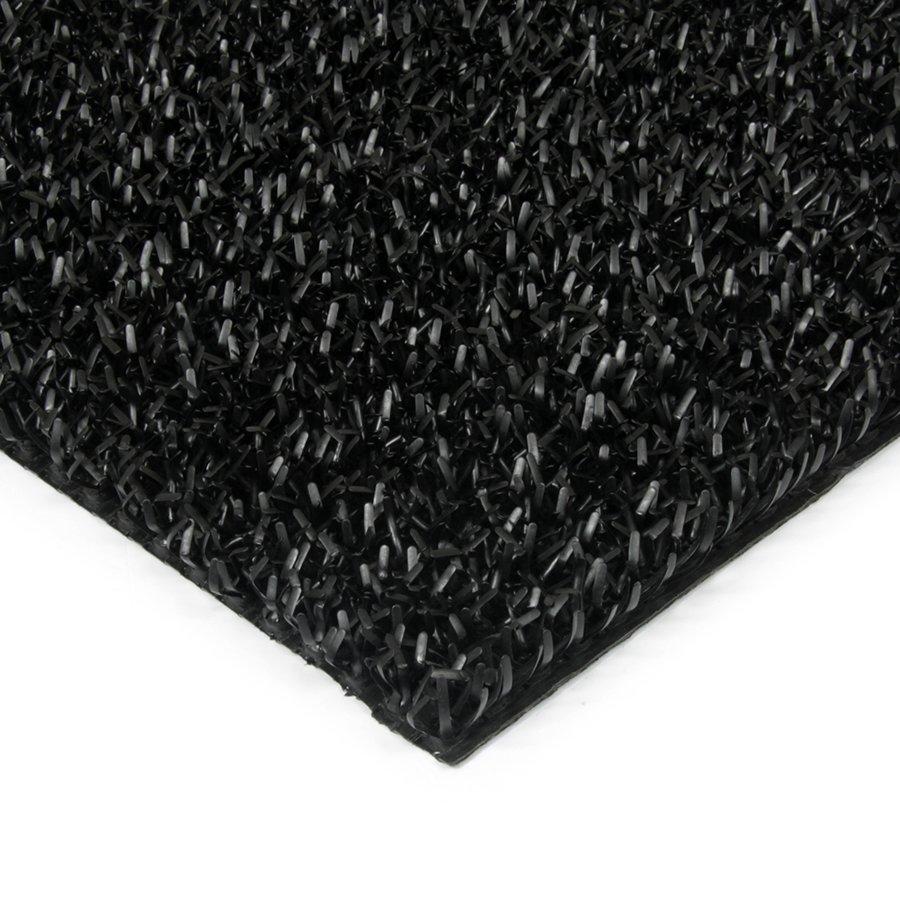 Černá plastová univerzální čistící metrážová vstupní rohož FLOMA Astra - šířka 91 cm a výška 1,8 cm