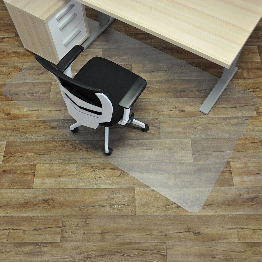 Čirá podložka na hladké povrchy pod židli - délka 200 cm, šířka 120 cm a výška 0,15 cm