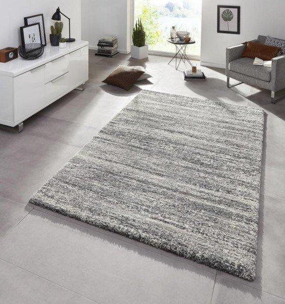 Šedý kusový moderní koberec Chloe
