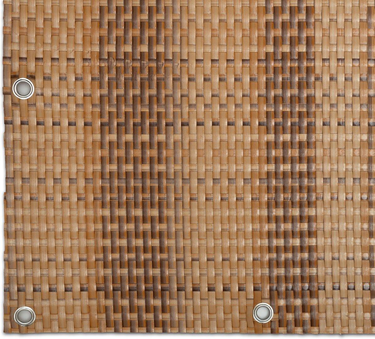 """Béžovo-hnědá plastová ratanová stínící rohož """"umělý ratan"""" s oky - délka 300 cm a výška 90 cm"""