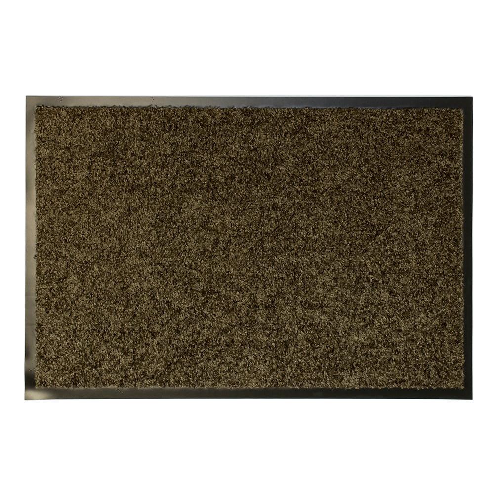 Hnědá textilní čistící vnitřní antibakteriální vstupní rohož - výška 0,9 cm