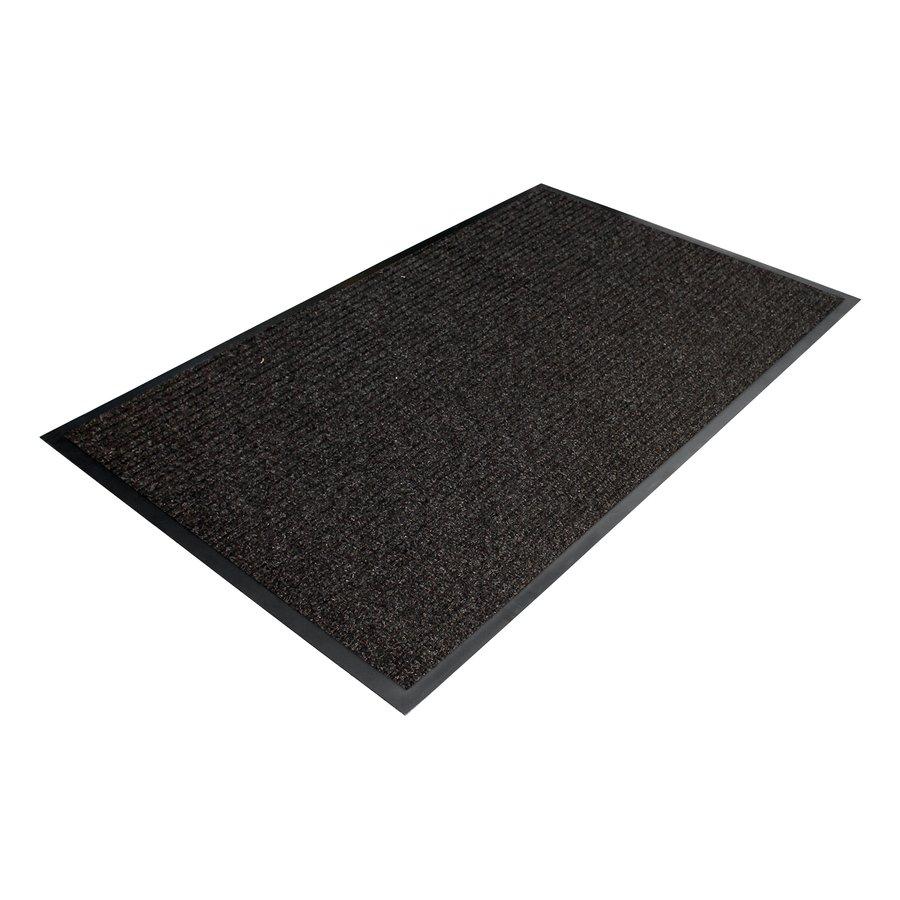 Černá textilní vstupní vnitřní čistící rohož - délka 90 cm, šířka 150 cm a výška 0,7 cm