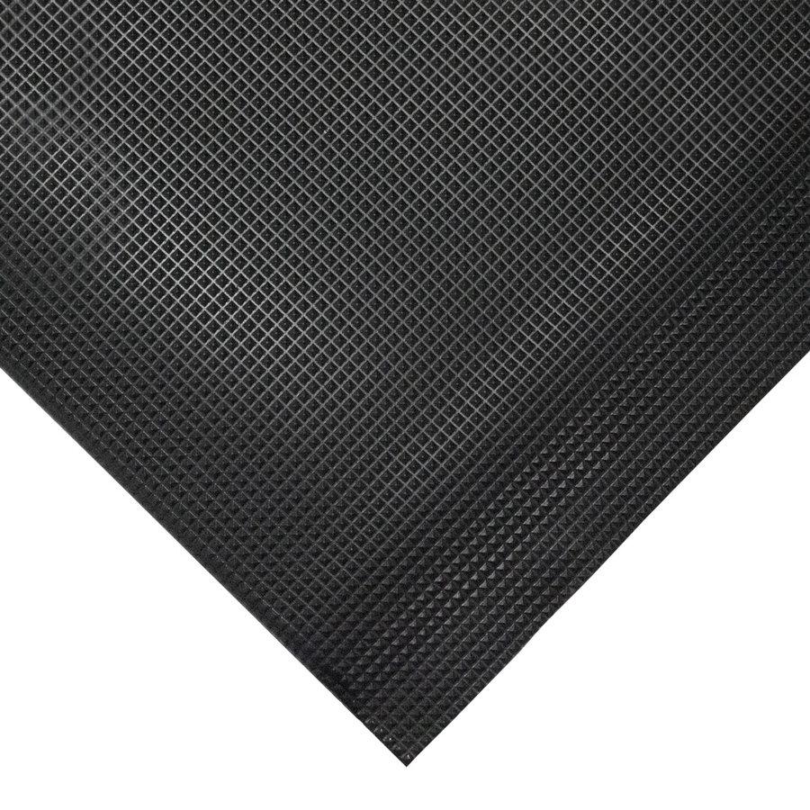 Černá gumová protiskluzová protiúnavová průmyslová rohož - výška 1 cm