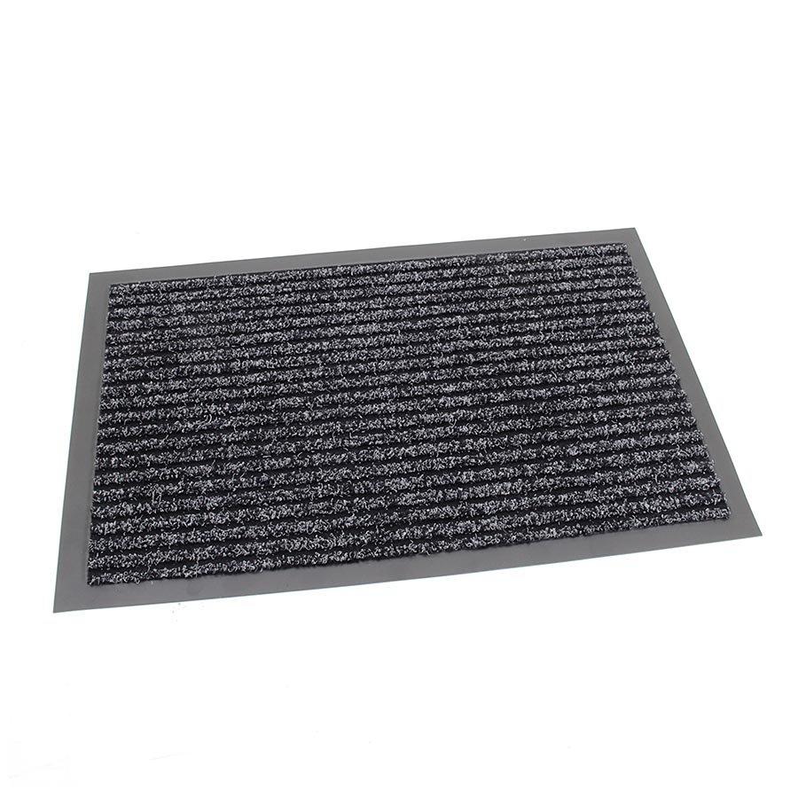 Antracitová čistící vnitřní vstupní rohož FLOMA Everton - výška 0,6 cm