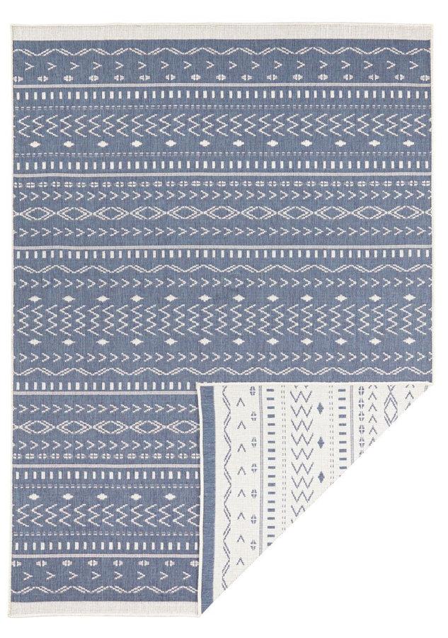 Modrý oboustranný moderní koberec Twin-Supreme, Kuba