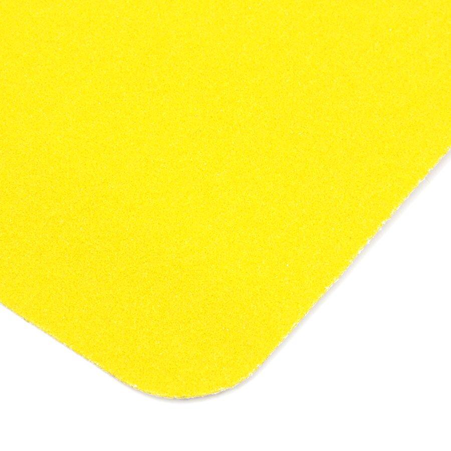 Žlutá korundová protiskluzová páska (pás) FLOMA Standard - délka 15 cm, šířka 61 cm a tloušťka 0,7 mm