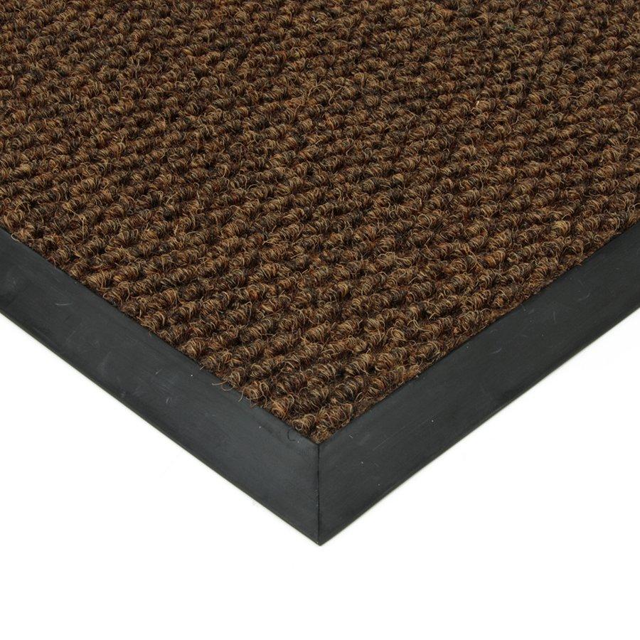 Hnědá textilní zátěžová čistící vnitřní vstupní rohož FLOMA Fiona - výška 1,1 cm