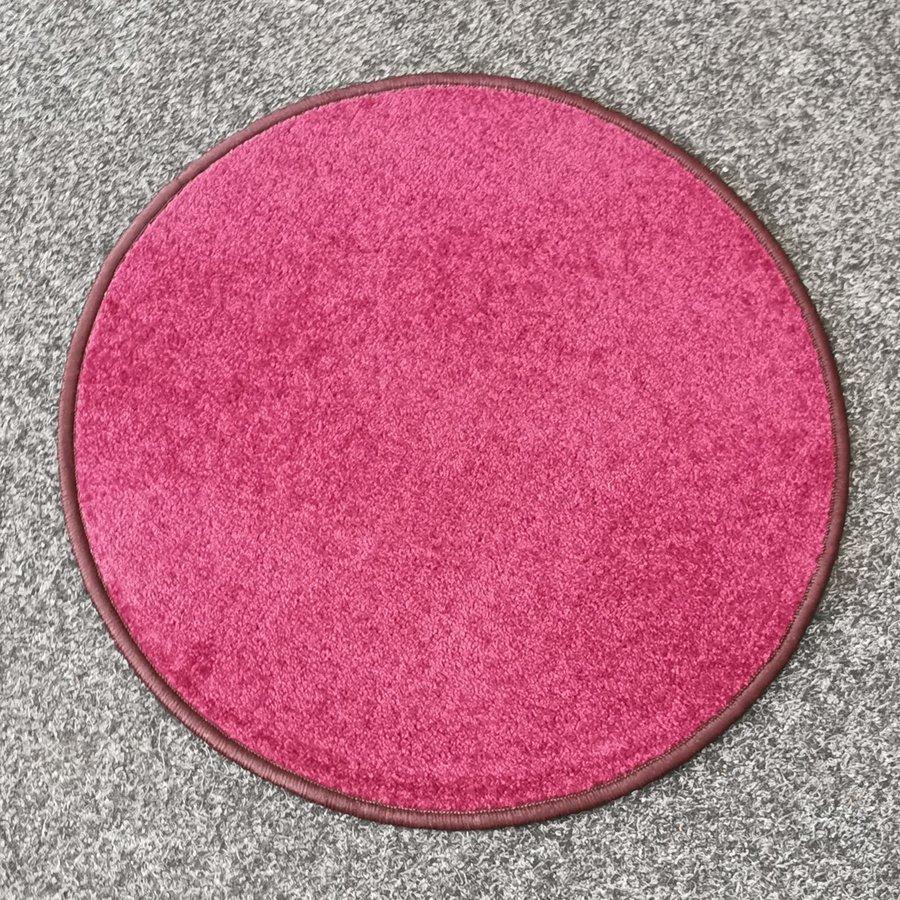 Fialový kusový kulatý koberec Eton - průměr 80 cm