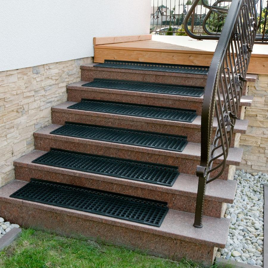 Gumová schodová rohož na hrubé nečistoty - délka 25 cm, šířka 105 cm a výška 1,2 cm