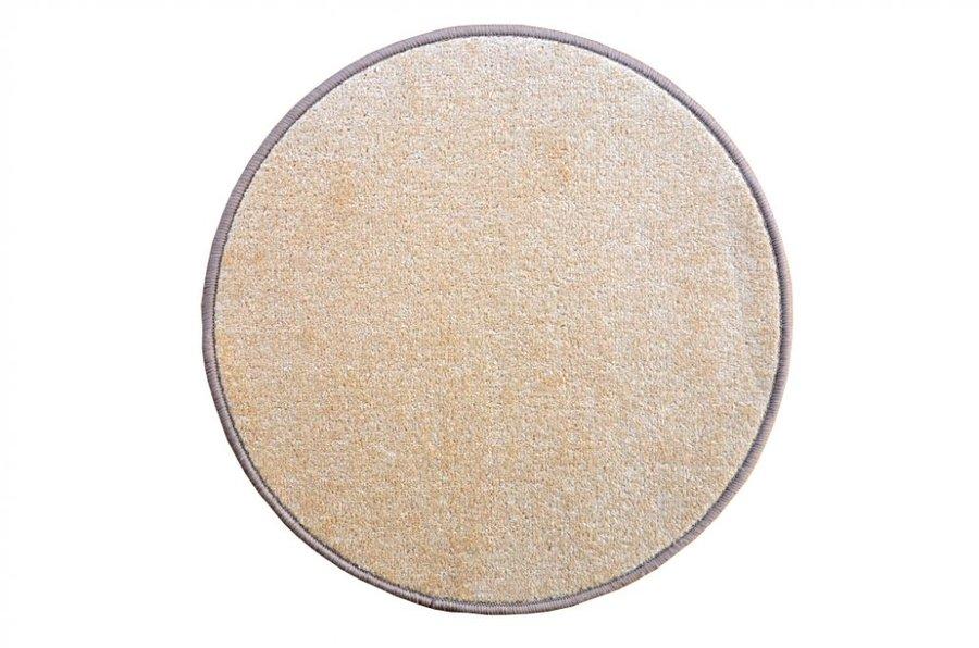 Béžový kusový kulatý koberec Eton - průměr 100 cm