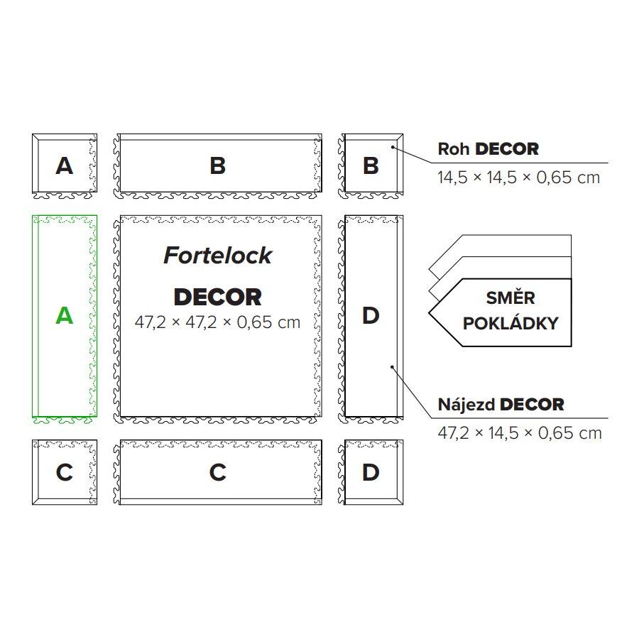 "Béžový vinylový plastový nájezd ""typ A"" Business Decor 2125, Fortelock - délka 47,2 cm, šířka 14,5 cm a výška 0,65 cm"