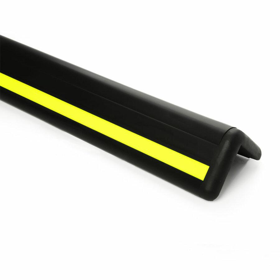 Černo-žlutý pryžový nárazový ochranný pás (roh) - délka 150 cm, šířka 16 cm a tloušťka 1,5 cm