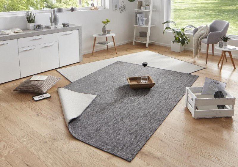 Béžovo-šedý kusový oboustranný koberec Twin-Wendeteppiche - délka 350 cm a šířka 80 cm