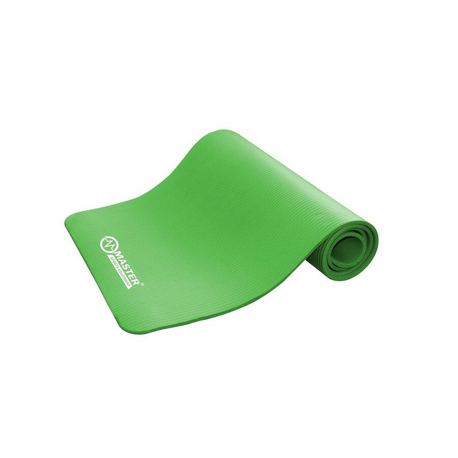 Zelená podložka na cvičení a na jógu MASTER - délka 183 cm, šířka 61 cm a výška 1 cm