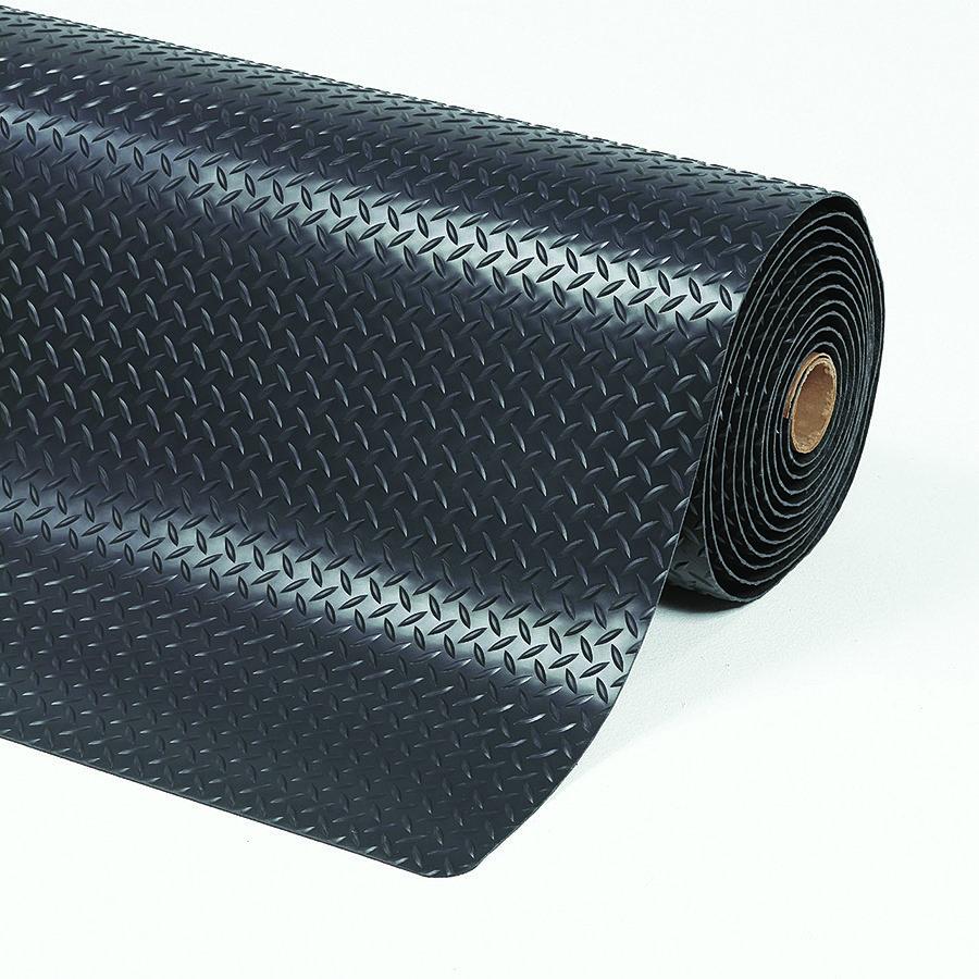 Černá protiúnavová průmyslová laminovaná rohož Cushion Trax - výška 1,4 cm