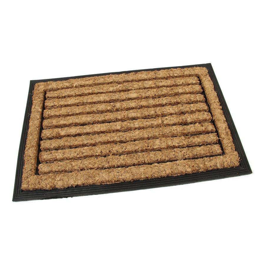 Kokosová čistící venkovní vstupní rohož Rectangle - Stripes, FLOMAT, 01 - délka 40 cm, šířka 60 cm a výška 2,2 cm