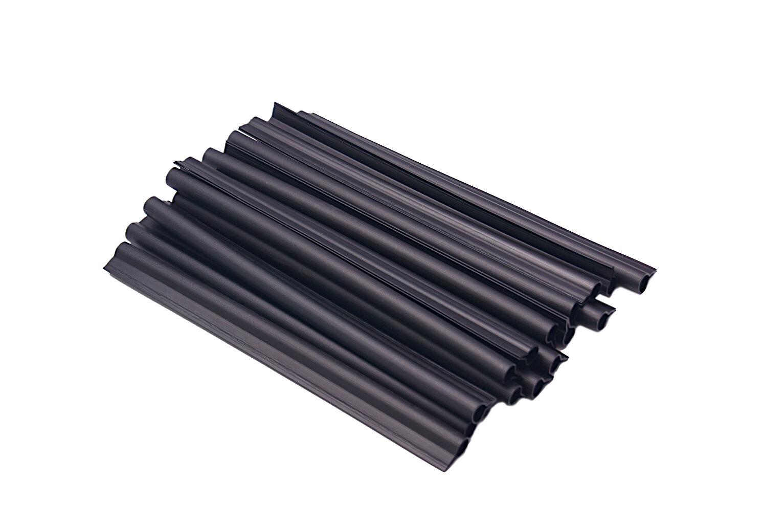 Černý plastový plotový úchyt - délka 19 cm