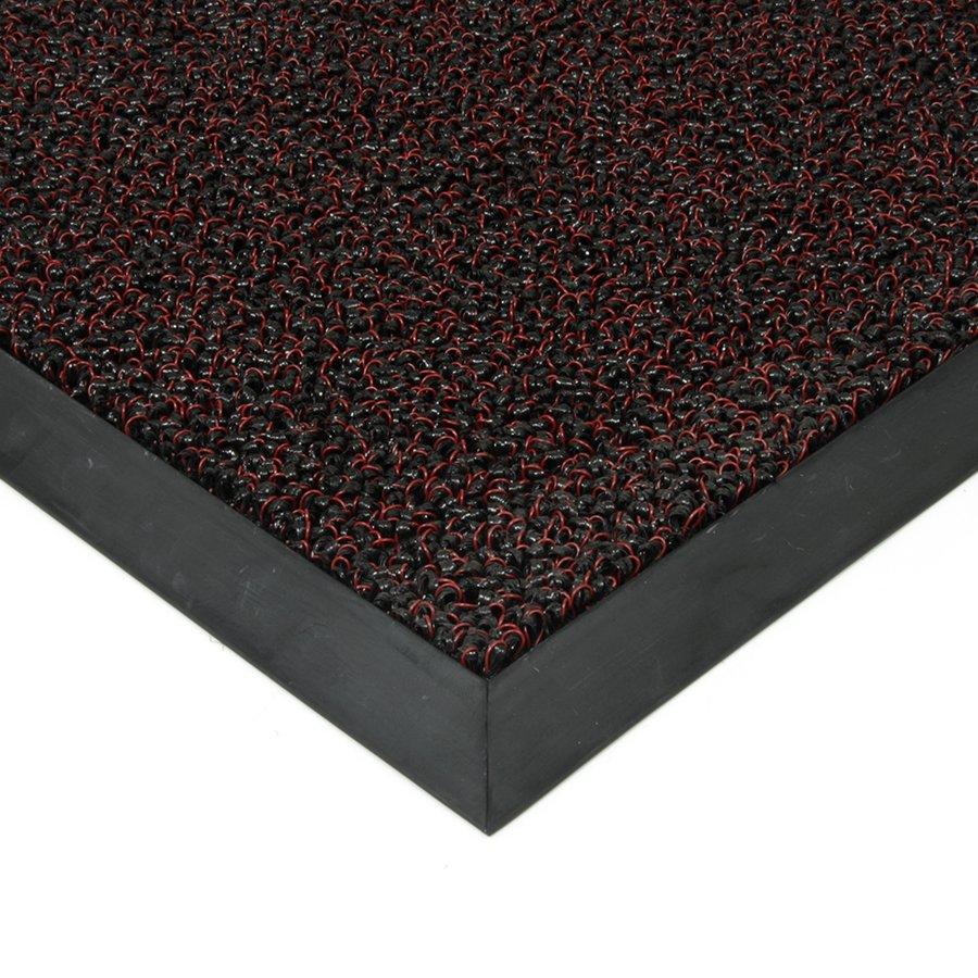 Červená plastová zátěžová čistící venkovní vnitřní vstupní rohož Rita, FLOMAT - výška 1 cm