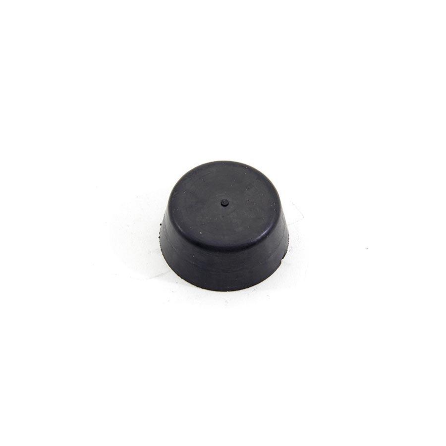 Černý pryžový doraz návlečný pro hlavu šroubu FLOXO - průměr 2,8 cm a výška 1,3 cm