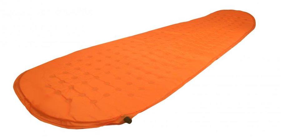 Oranžová samonafukovací karimatka HIKER - délka 190 cm, šířka 60 cm a výška 2,5 cm