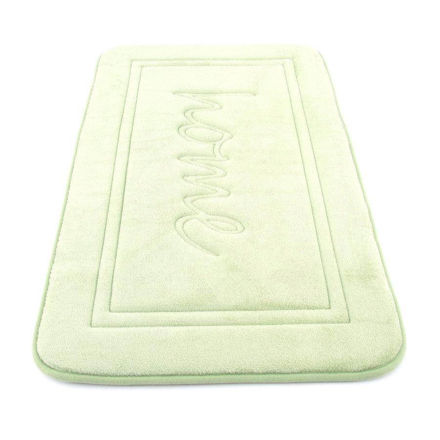 Zelená koupelnová pěnová předložka - délka 80 cm a šířka 50 cm