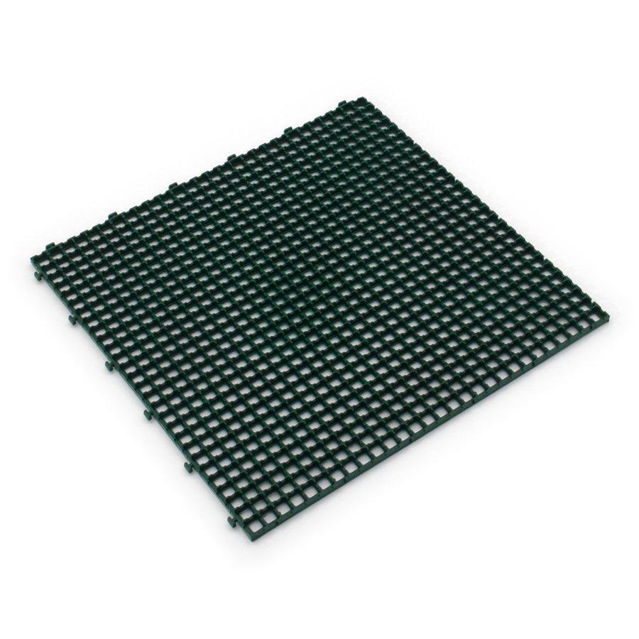 Zelená plastová terasová dlažba Linea Flextile - délka 39,5 cm, šířka 39,5 cm a výška 0,8 cm