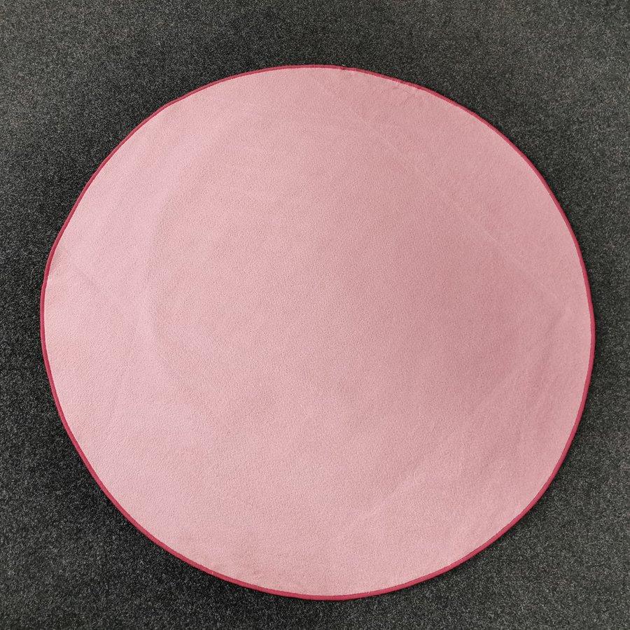 Růžový kusový kulatý koberec Fancy - průměr 200 cm
