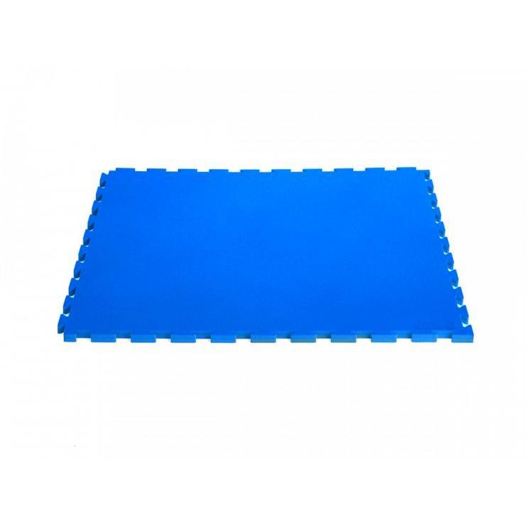 Modrá modulární pěnová podložka - délka 100 cm, šířka 100 cm a výška 2 cm