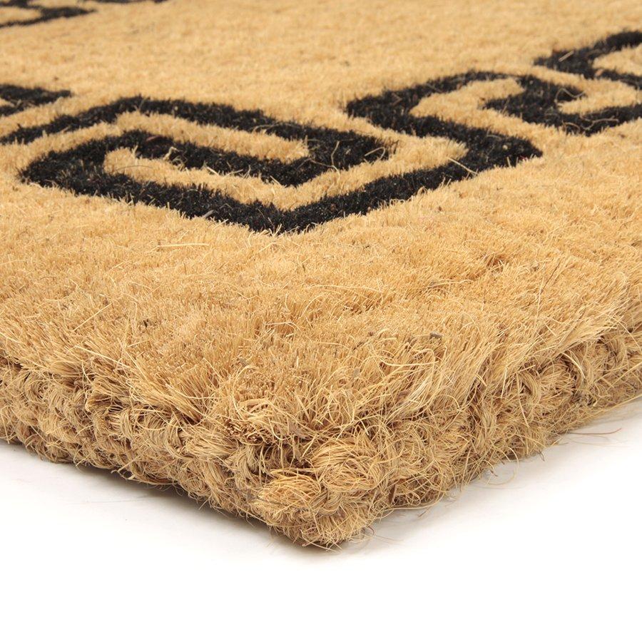 Kokosová vstupní venkovní čistící rohož Giza, FLOMA - délka 55 cm, šířka 90 cm a výška 4,7 cm