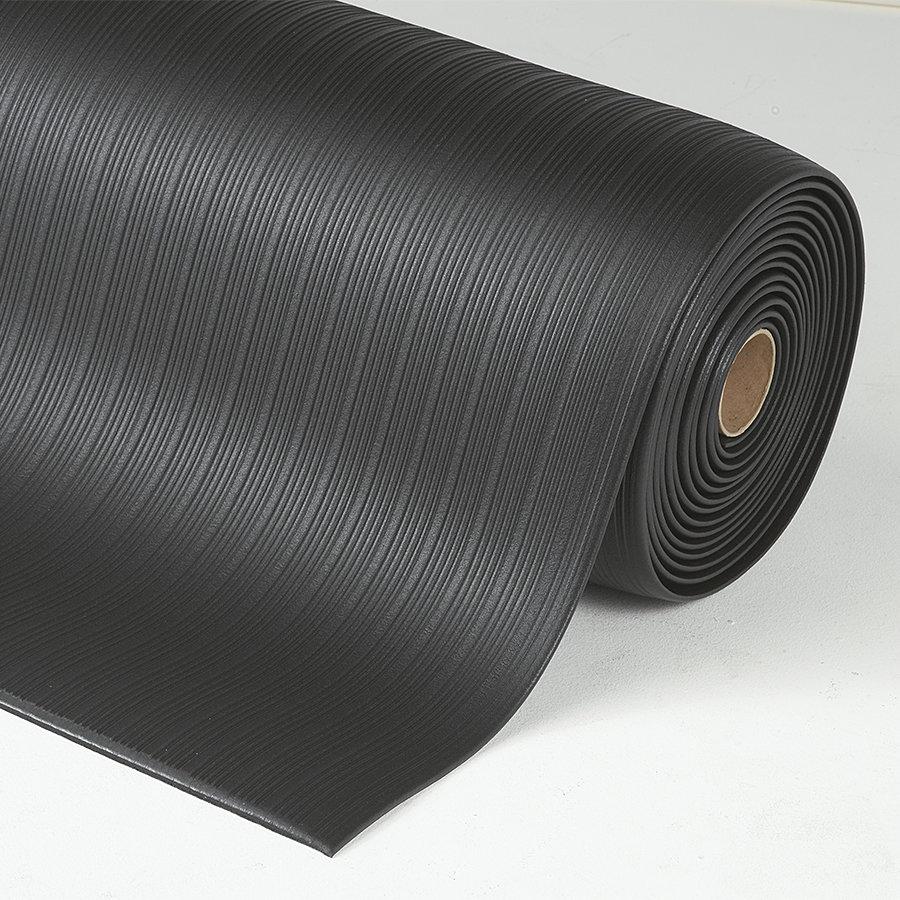 Černá protiúnavová průmyslová rohož Airug - výška 0,94 cm