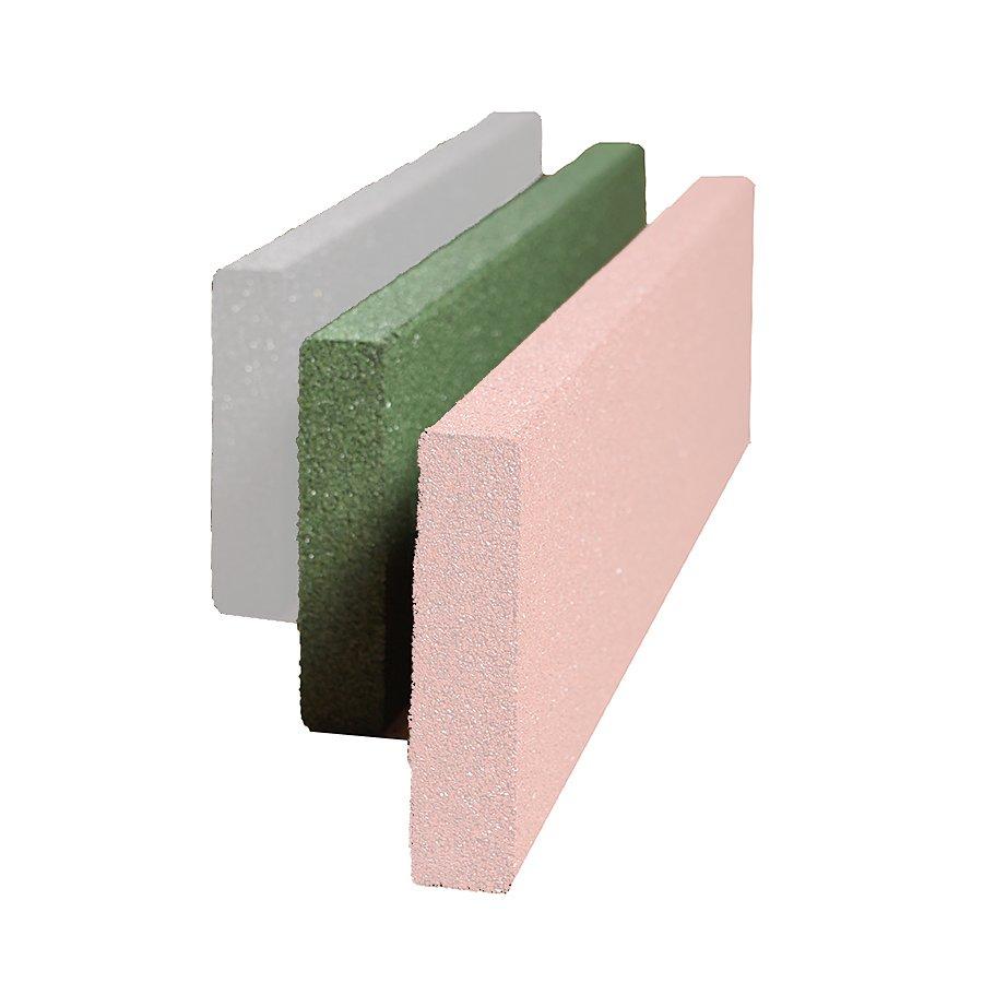 Zelený gumový dopadový obrubník OB2 FLOMA - délka 100 cm, šířka 5 cm a výška 25 cm