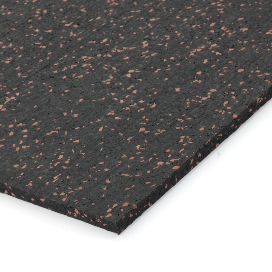 Černo-červená gumová dlažba (deska) FLOMA IceFlo SF1100 - délka 198 cm, šířka 98 cm a výška 0,8 cm
