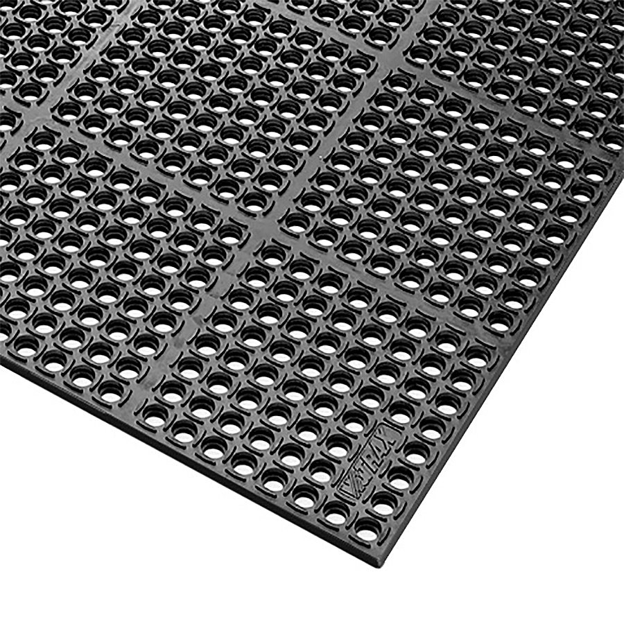Černá olejivzdorná průmyslová extra odolná rohož (100% nitrilová pryž) Safety Stance - výška 2,2 cm