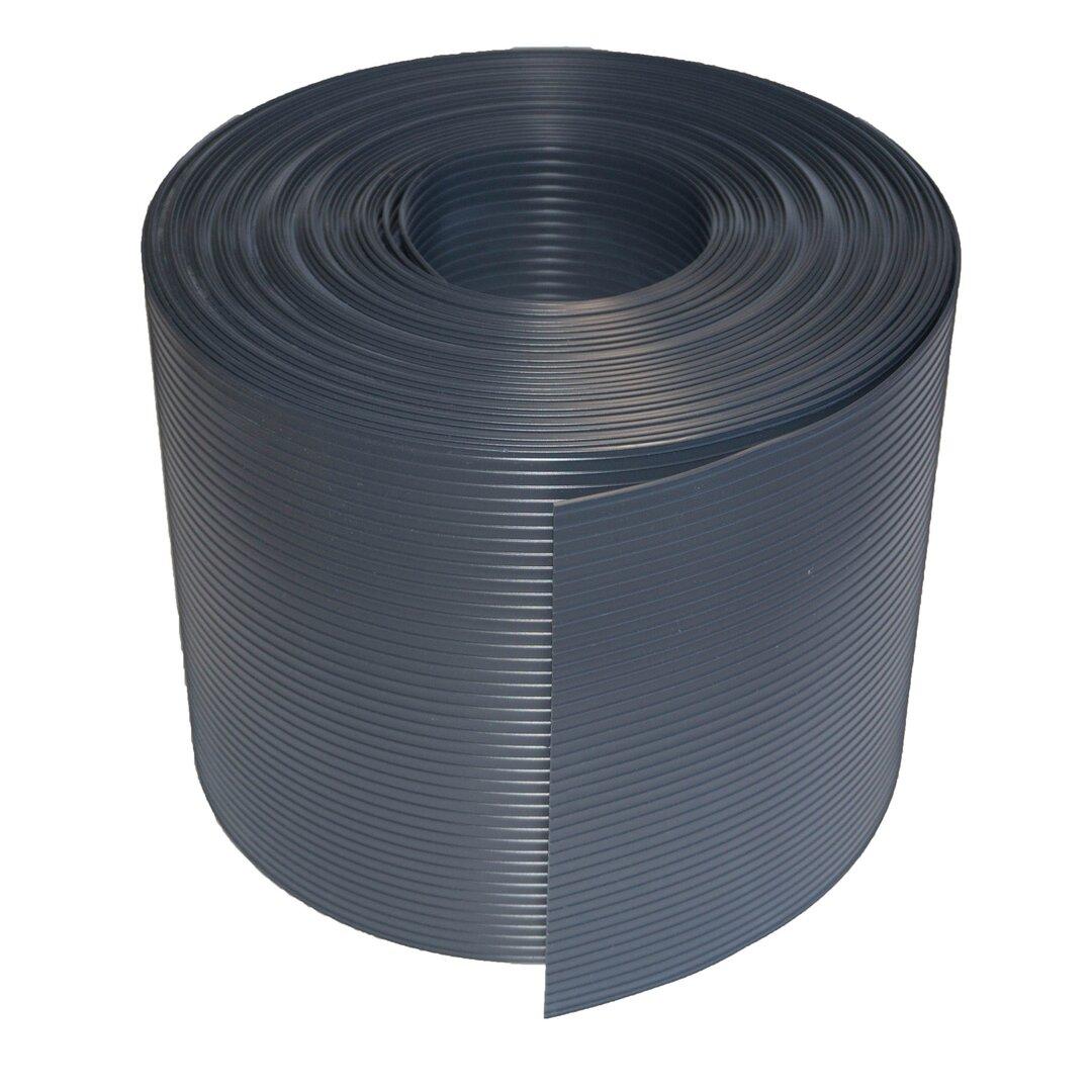 Tmavě šedý plastový ratanový stínící pás - délka 20 m a výška 19 cm