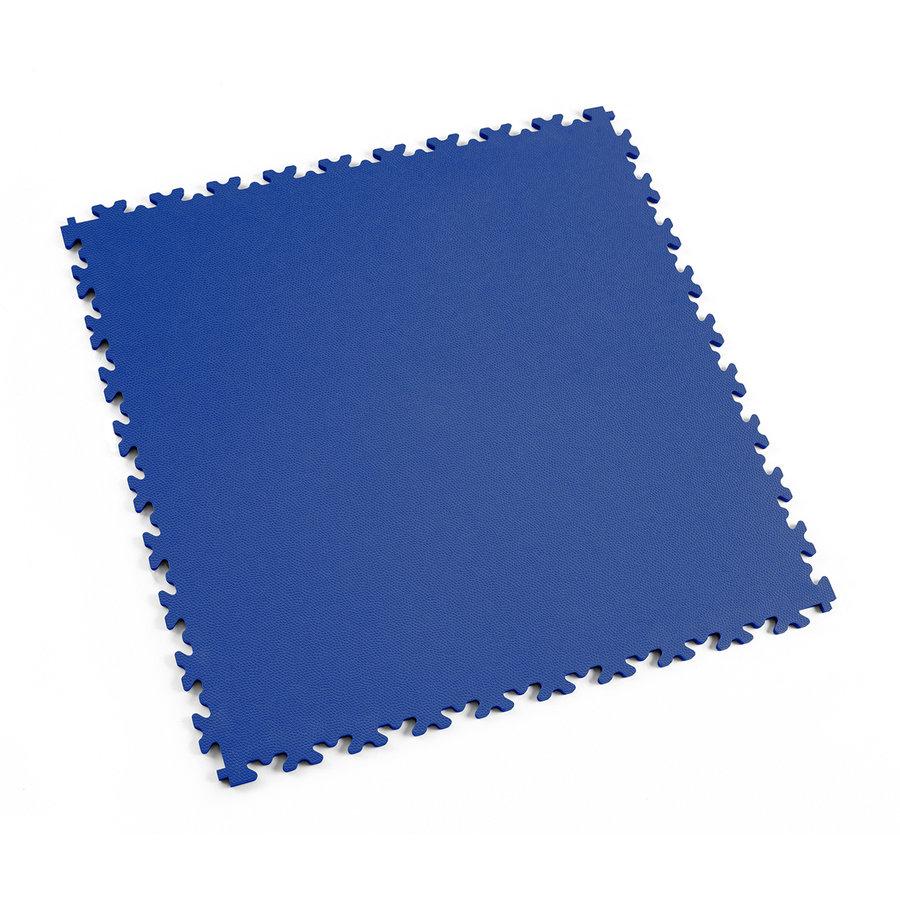 Modrá vinylová plastová dlaždice Light 2060 (kůže), Fortelock - délka 51 cm, šířka 51 cm a výška 0,7 cm