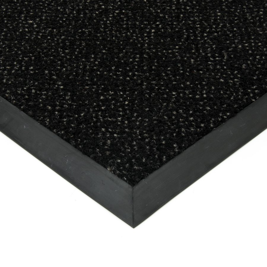 Černá textilní čistící vnitřní vstupní rohož FLOMA Cleopatra Extra (Bfl-S1) - výška 1 cm